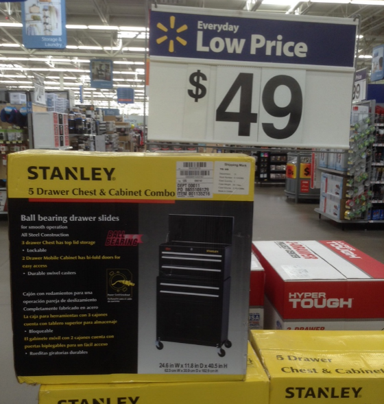 walmart tool box. stanley tool chest at walmart | product rebates, sales and promotions bob is the oil guy box