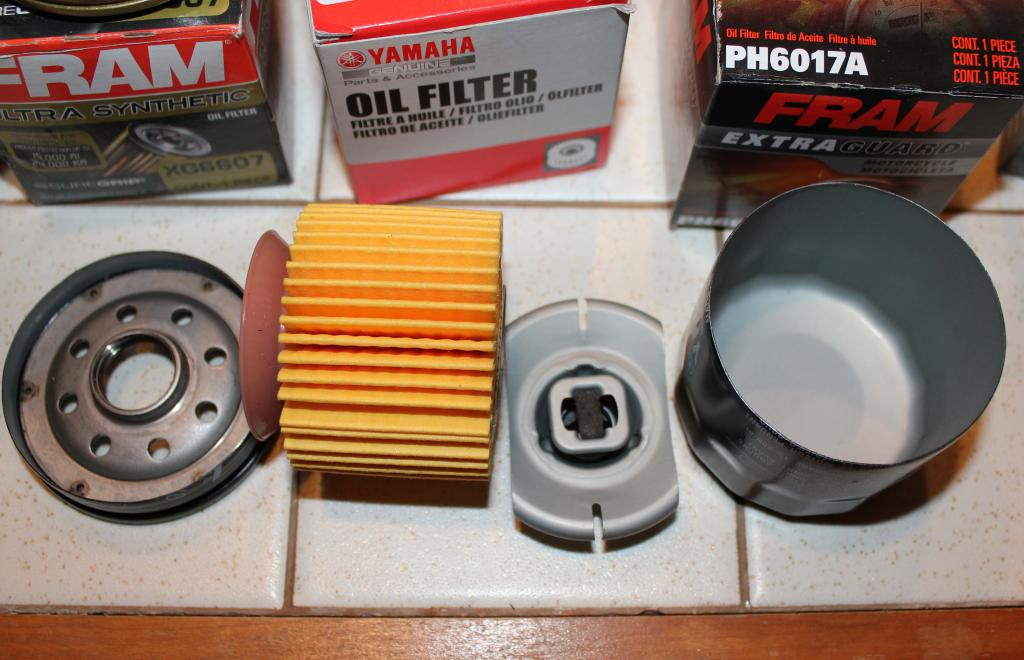 Yamaha Motorcycle-PWC-OB virgin filter cut open - Bob Is The Oil Guy
