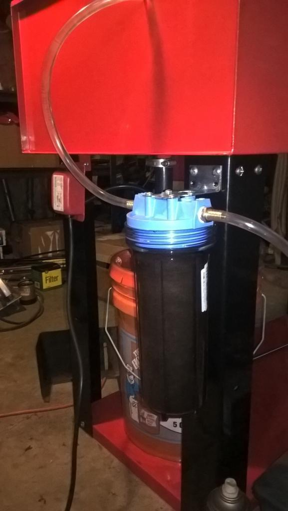 filtering parts washer solvent