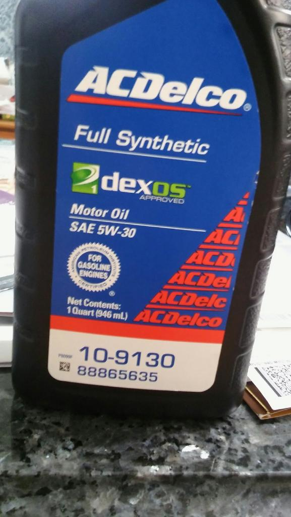 AC Delco full synthetic Dexos 5w 30 - Bob Is The Oil Guy