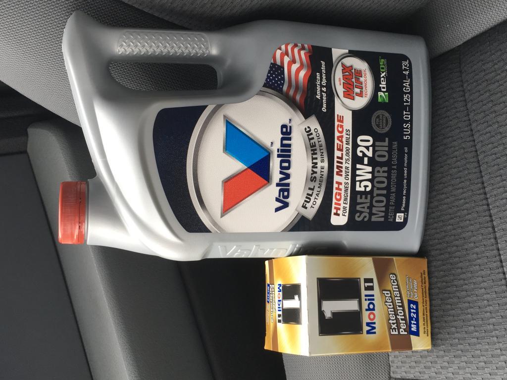 Post Your Latest Oil Change Passenger Car Motor Oil