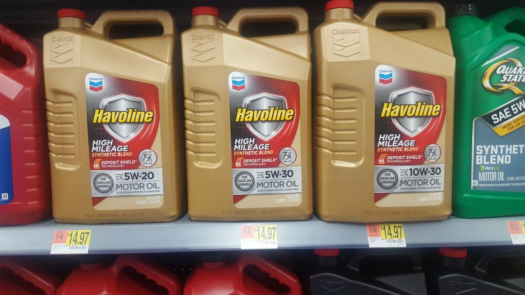 Havoline HM synthetic blend now at Walmart $15/jug - Bob Is