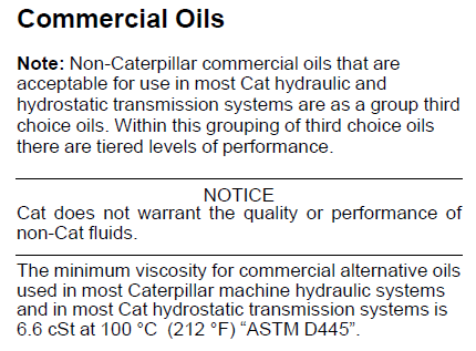 Caterpillar Hydo Alternatives ? - Bob Is The Oil Guy