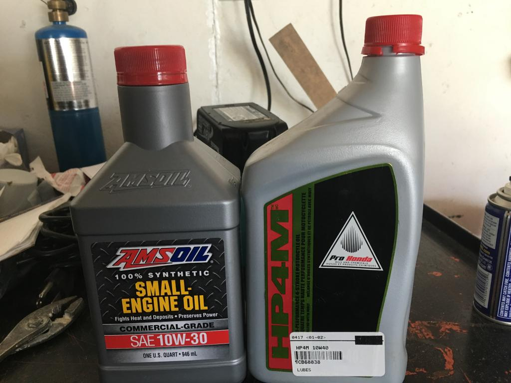 Amsoil small engine vs honda hp4m lawn mower and small for Small engine motor oil