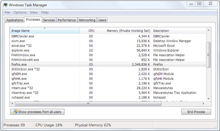 how to change firefox use of memory