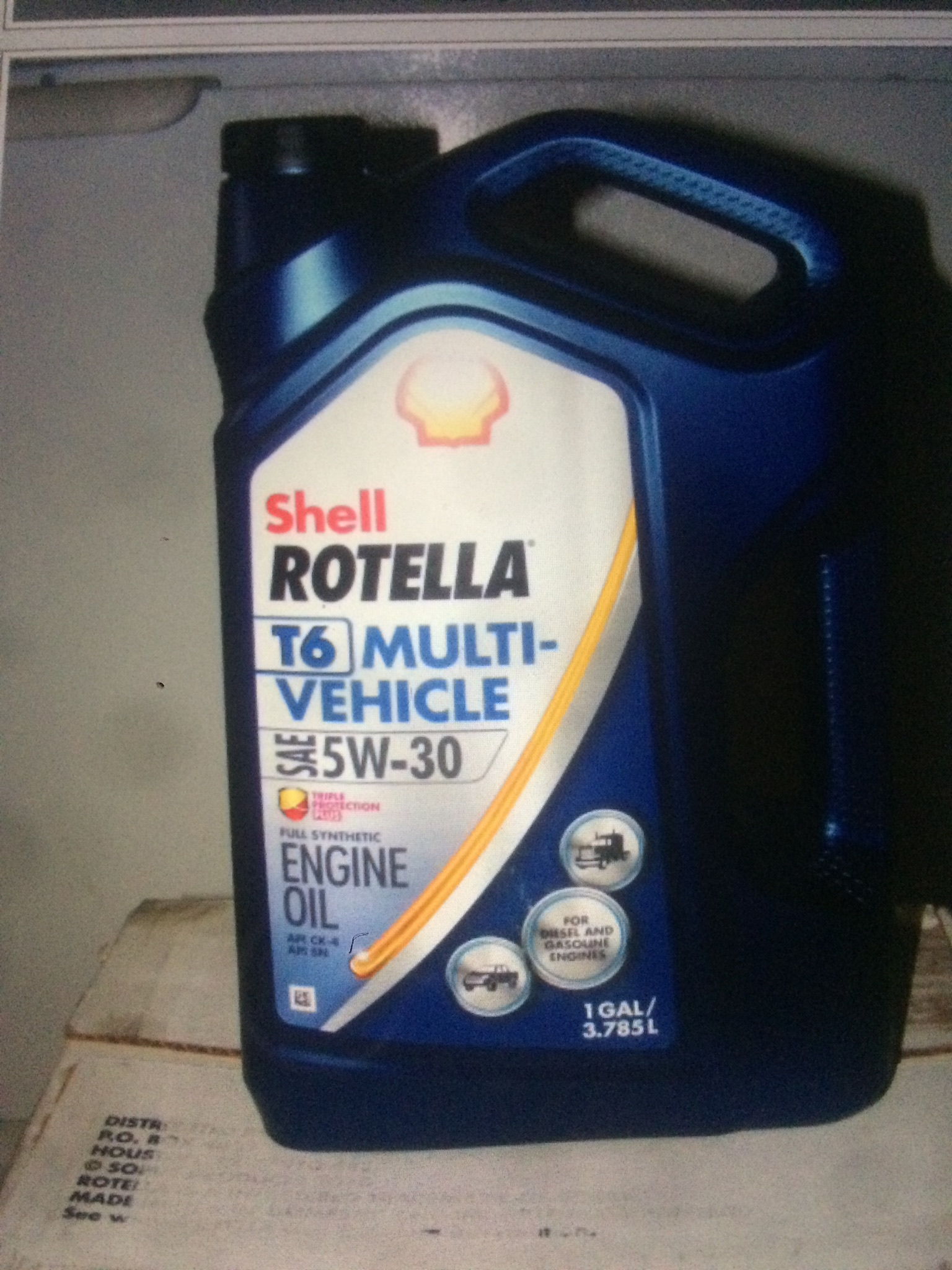 Shell rotella t6 multi vehicle 5w 30 virgin oil analysis for Shell rotella t6 5w 40 diesel motor oil